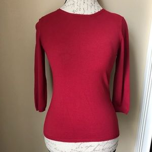 Banana Republic 3/4 sleeve red top small like new